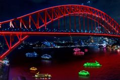 Sydney Harbour Lights during Vivid