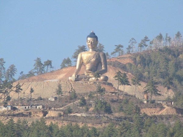 New bronze image of Buddha in Thimphu