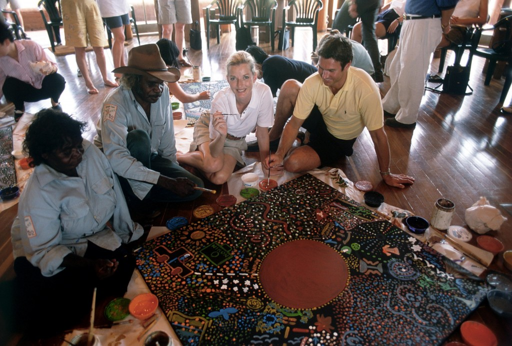 Dot painting workshop Photo Credit: Tourism Australia Copyright