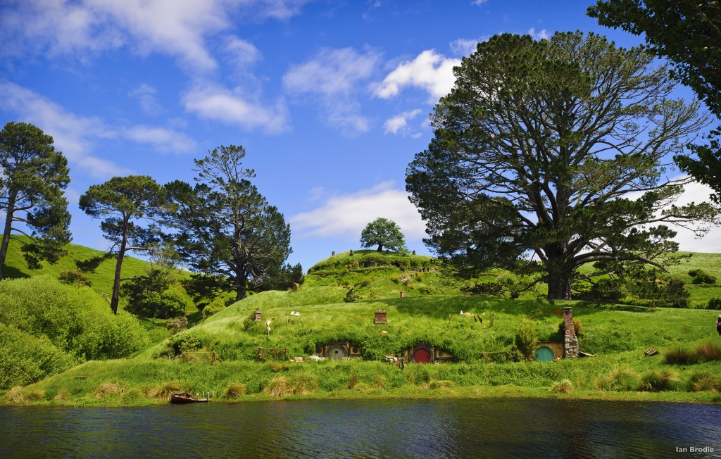 The lush countryside of The Shire Photo Credit: Hobbiton Movie Set
