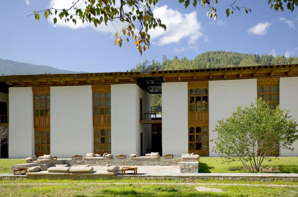 Bumthang Courtyard Photo Credit: Amankora Bumthang