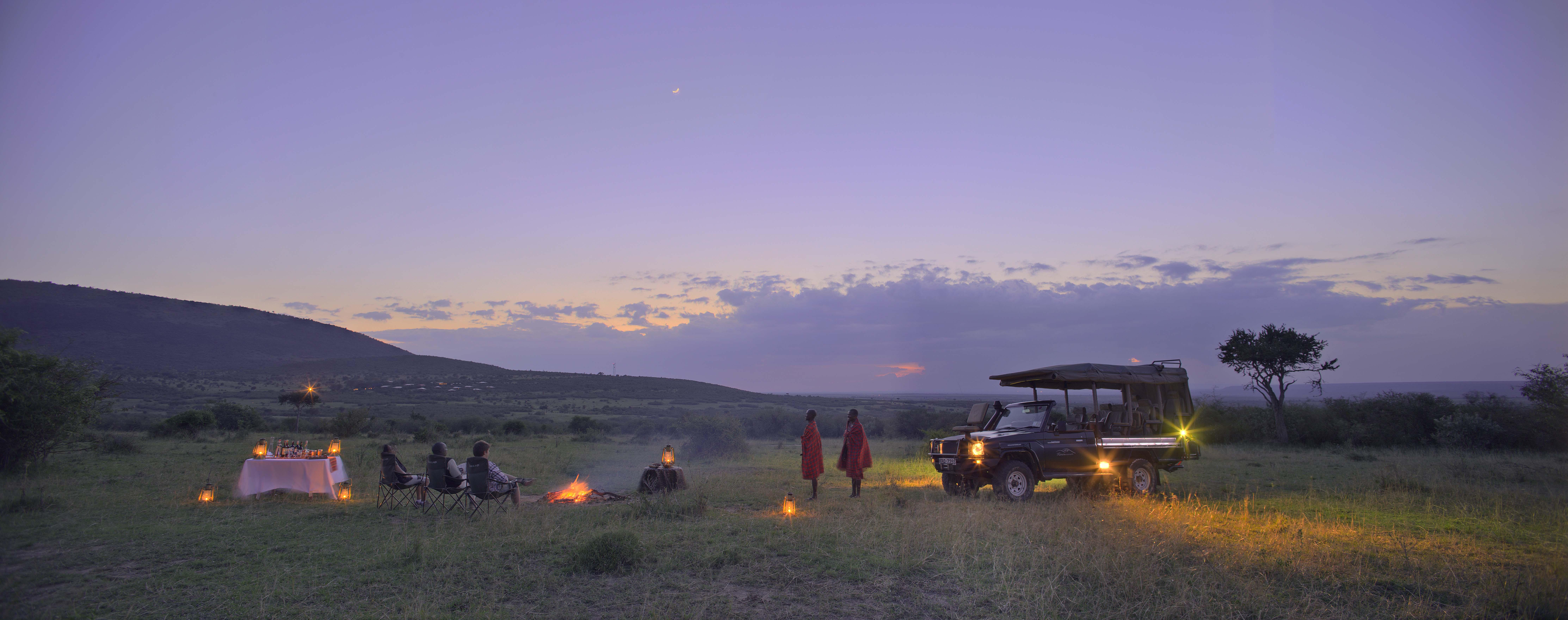 Sundowners by the fire - Photo courtesy of Mara Bushtops