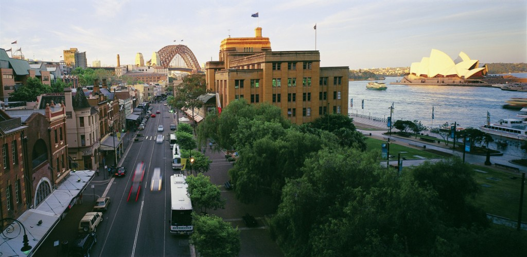 Panoramic View of the Rocks from Above George Street | Photo Credit: Sally Mayman, Destination New South Wales