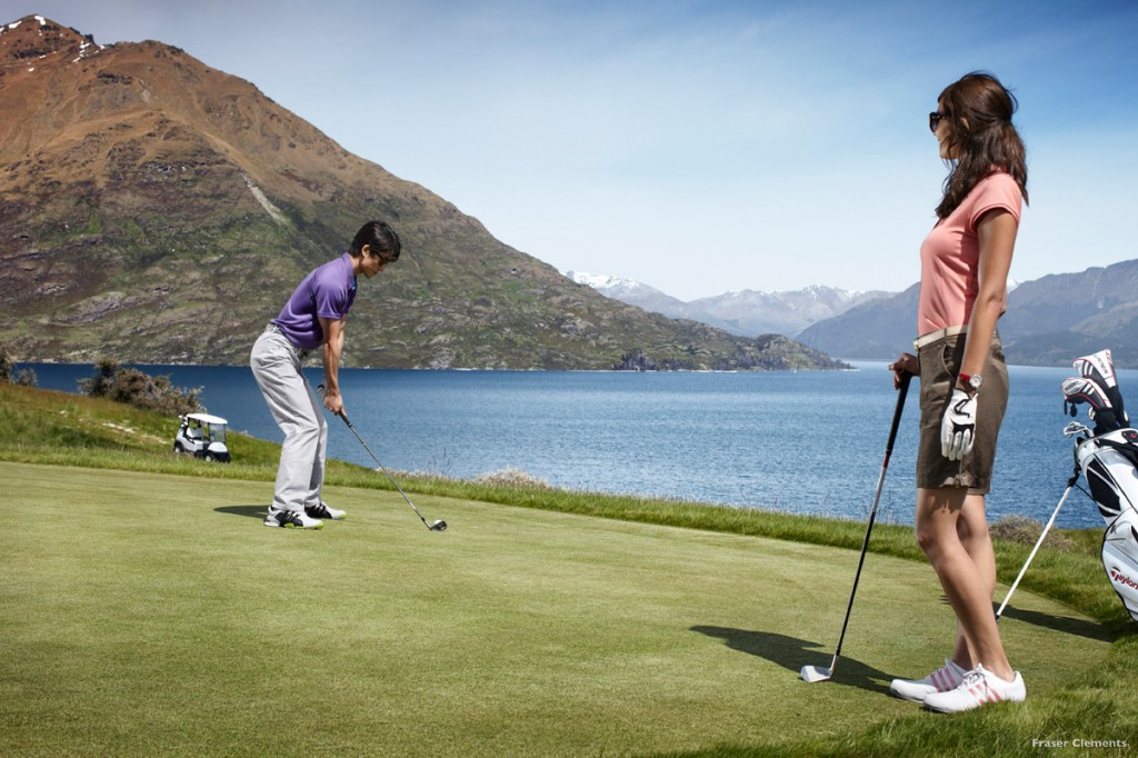 Teeing off at spectacular Jack's Point | Photo Credit: Tourism New Zealand
