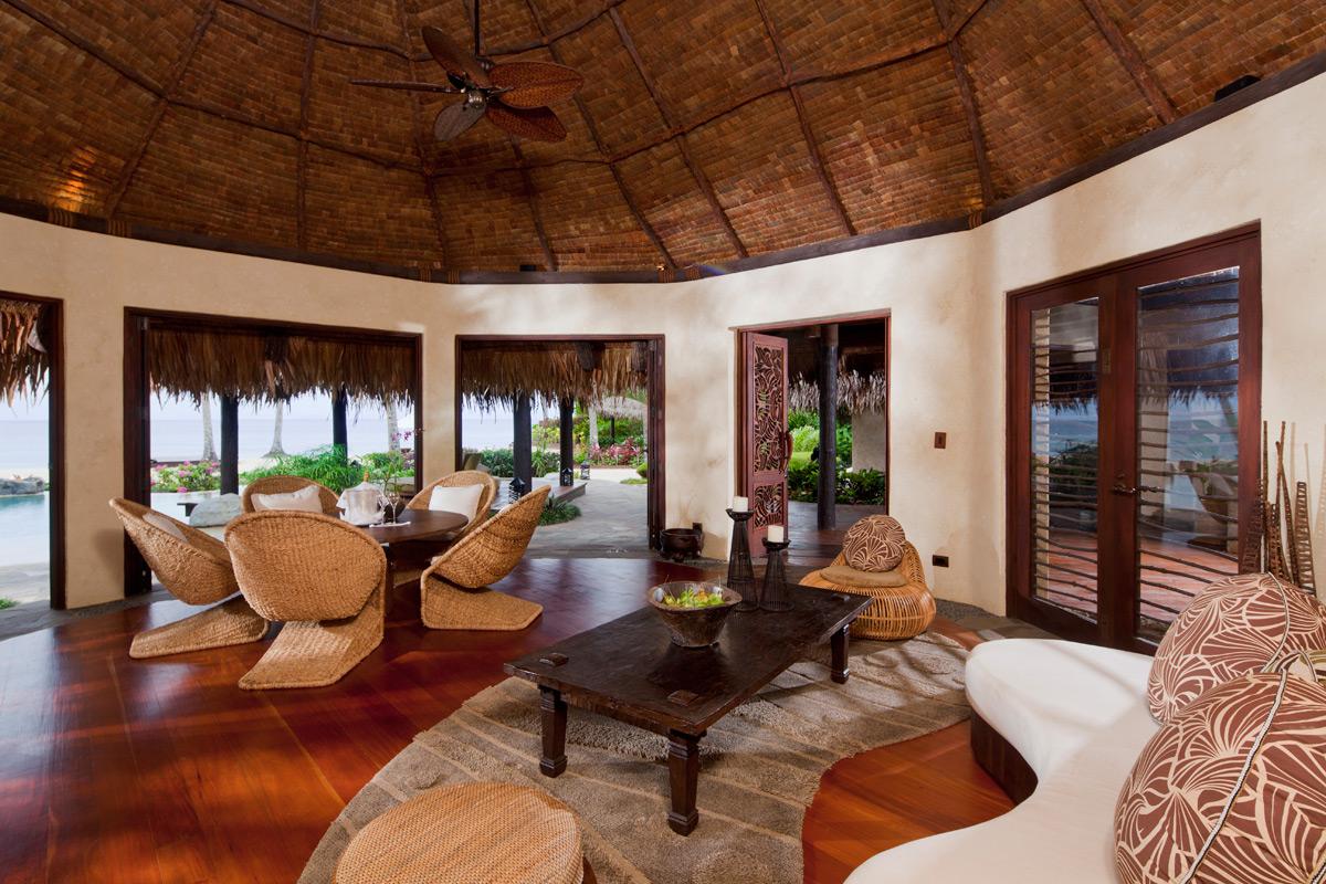 A private tropical island in fiji laucala island swain for Living room ideas villa