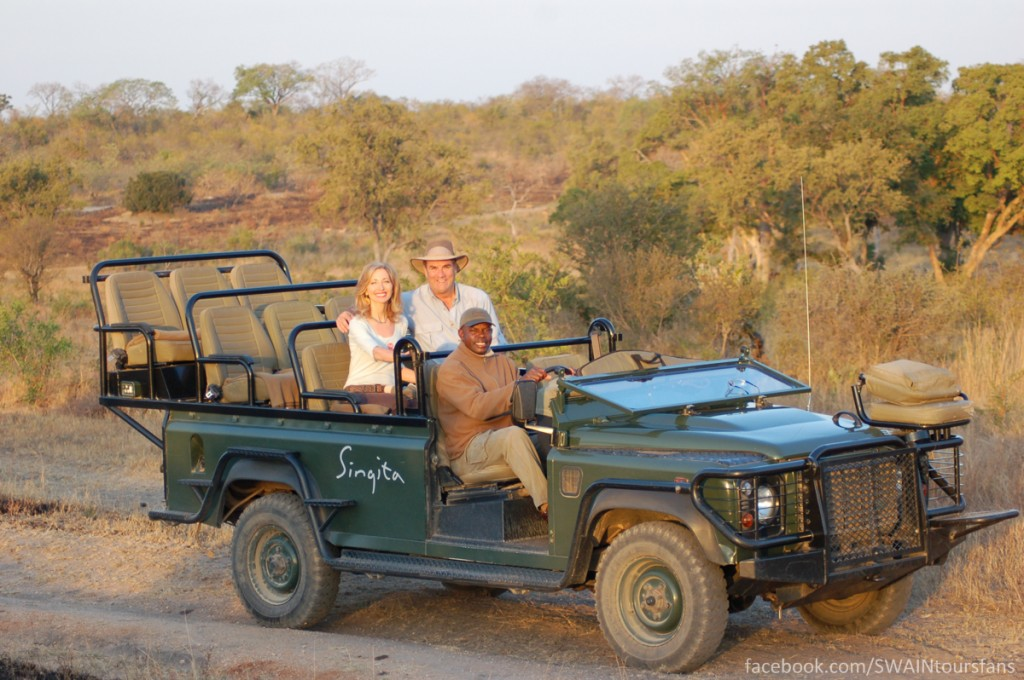 Linda and I ready for the game drive!