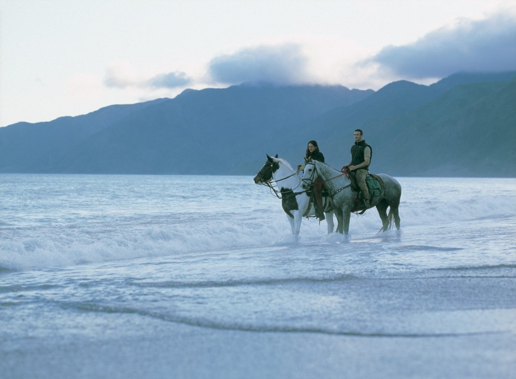 Horseback Riding on the Beach | Photo Credit: Wharekauhau Lodge
