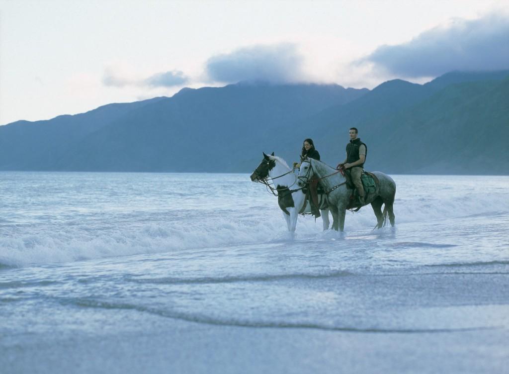 Horseback Riding on the Beach | Photo Credit: Wharekauhau Lodge