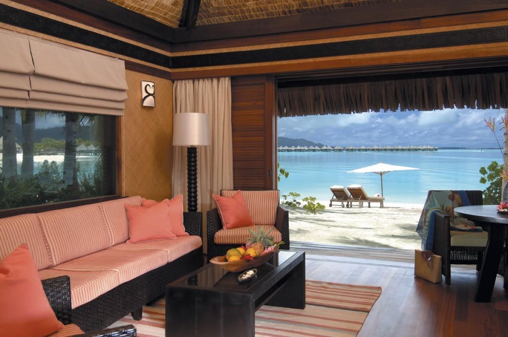 Villa Living Room   Photo Credit: St. Regis Bora Bora