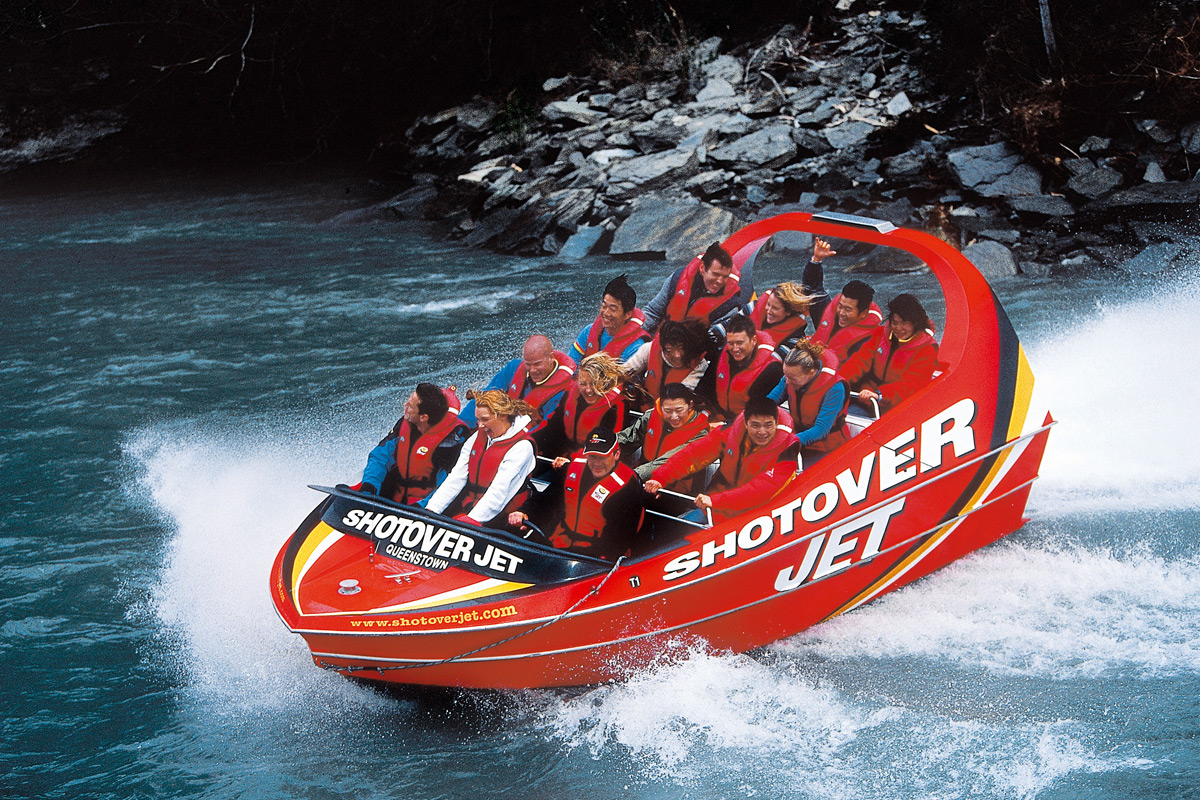 Jetboating on the Shotover River   Photo Credit: Tourism New Zealand