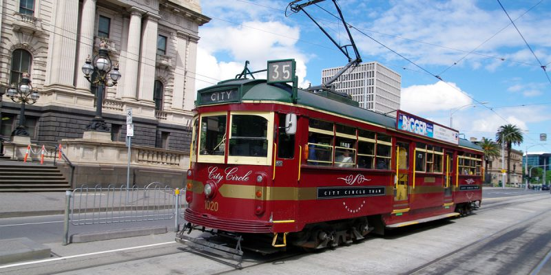 City Circle Tram on Spring Street | Photo Credit: Tourism Victoria