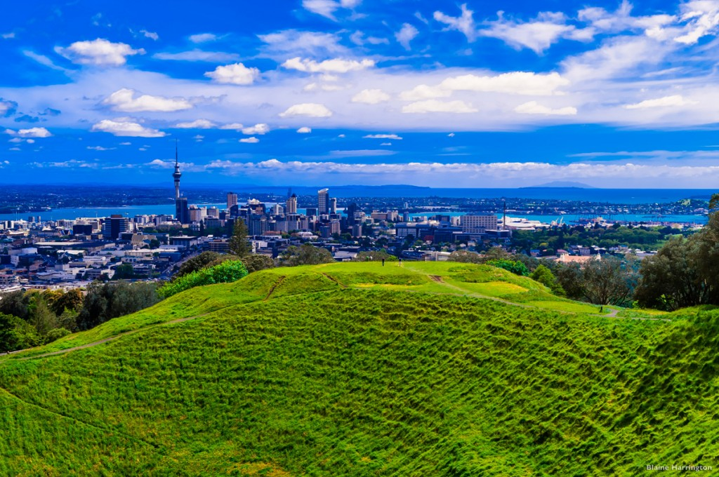 View of Auckland from Mt. Eden | Photo Credit: Tourism New Zealand