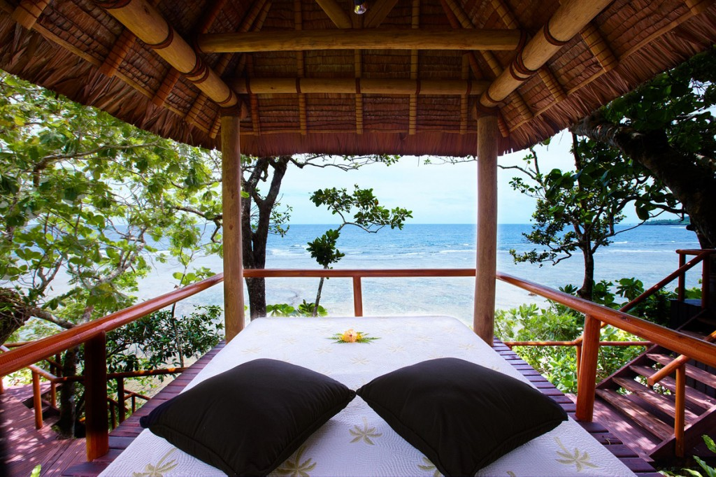 Day bed overlooking the Koro Sea | Photo Credit: Namale