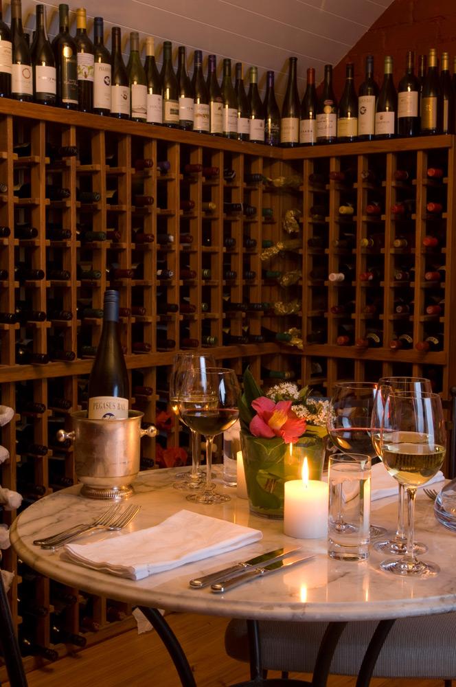 Wine Cellar | Photo Credit: Otahuna Lodge