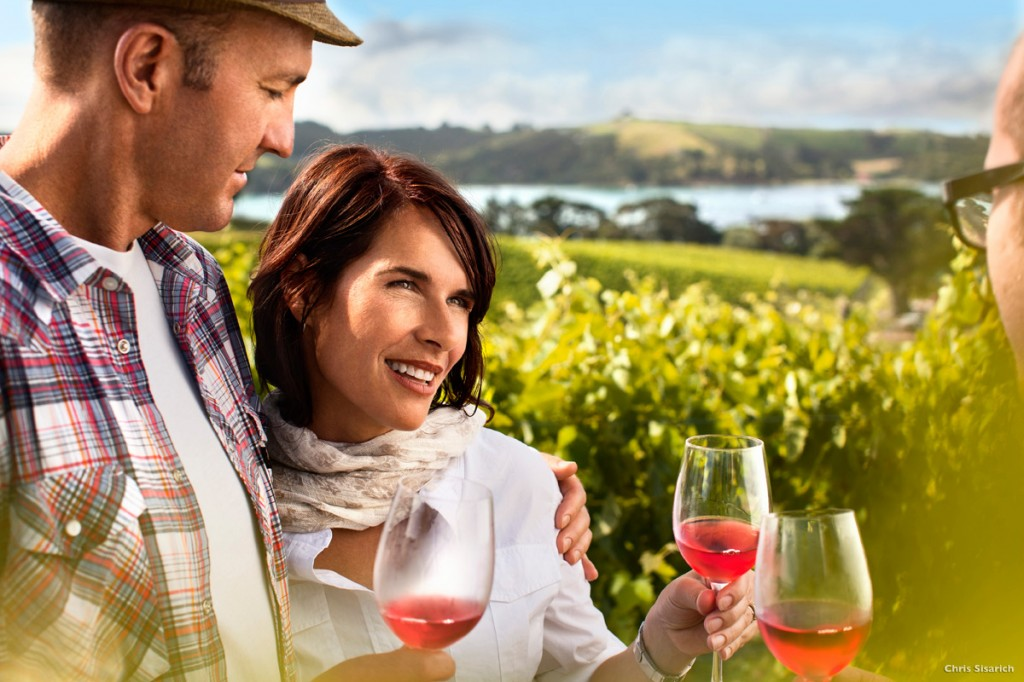 Wine tasting on Waiheke Island, Auckland | Photo Credit: Tourism New Zealand