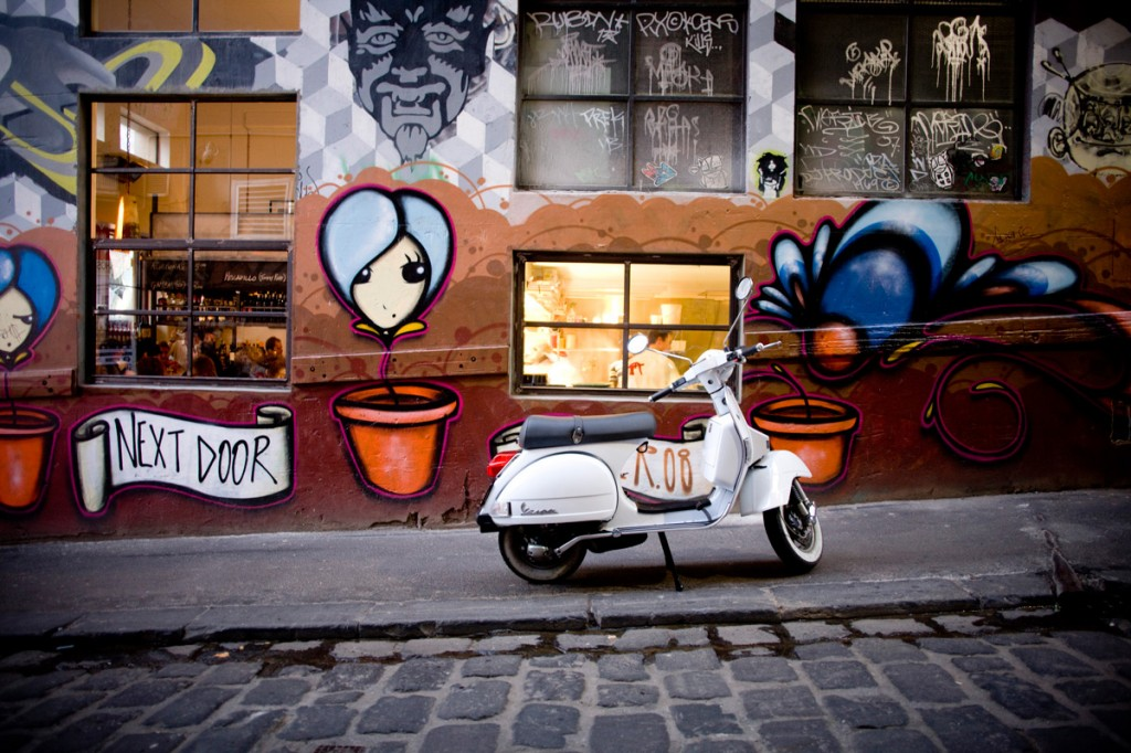 Exterior of MoVida Next Door, Hosier Lane | Photo Credit: Tourism Victoria