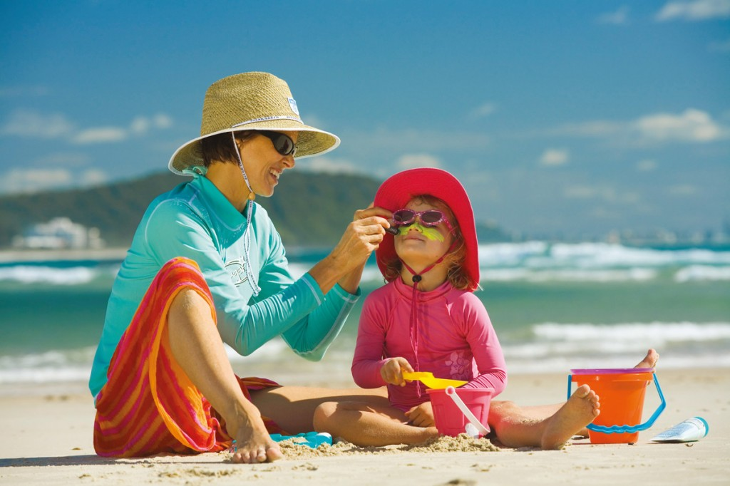 Mother and Daughter on beach in the Gold Coast | Photo Credit: Tourism and Events Queensland