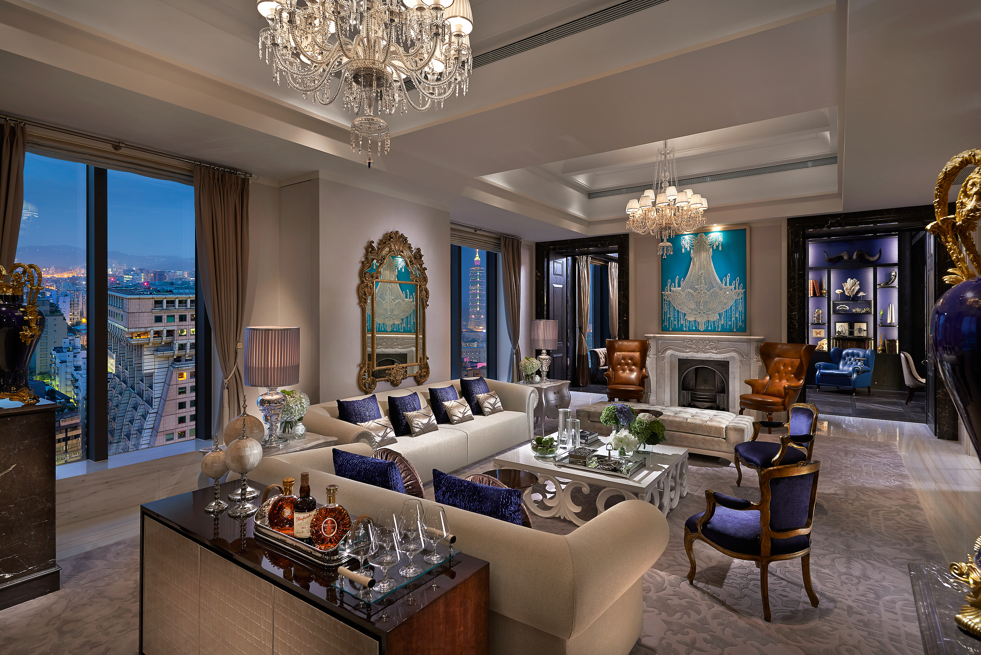 Mandarin oriental an exclusive taipei experience swain for Lounge room suites