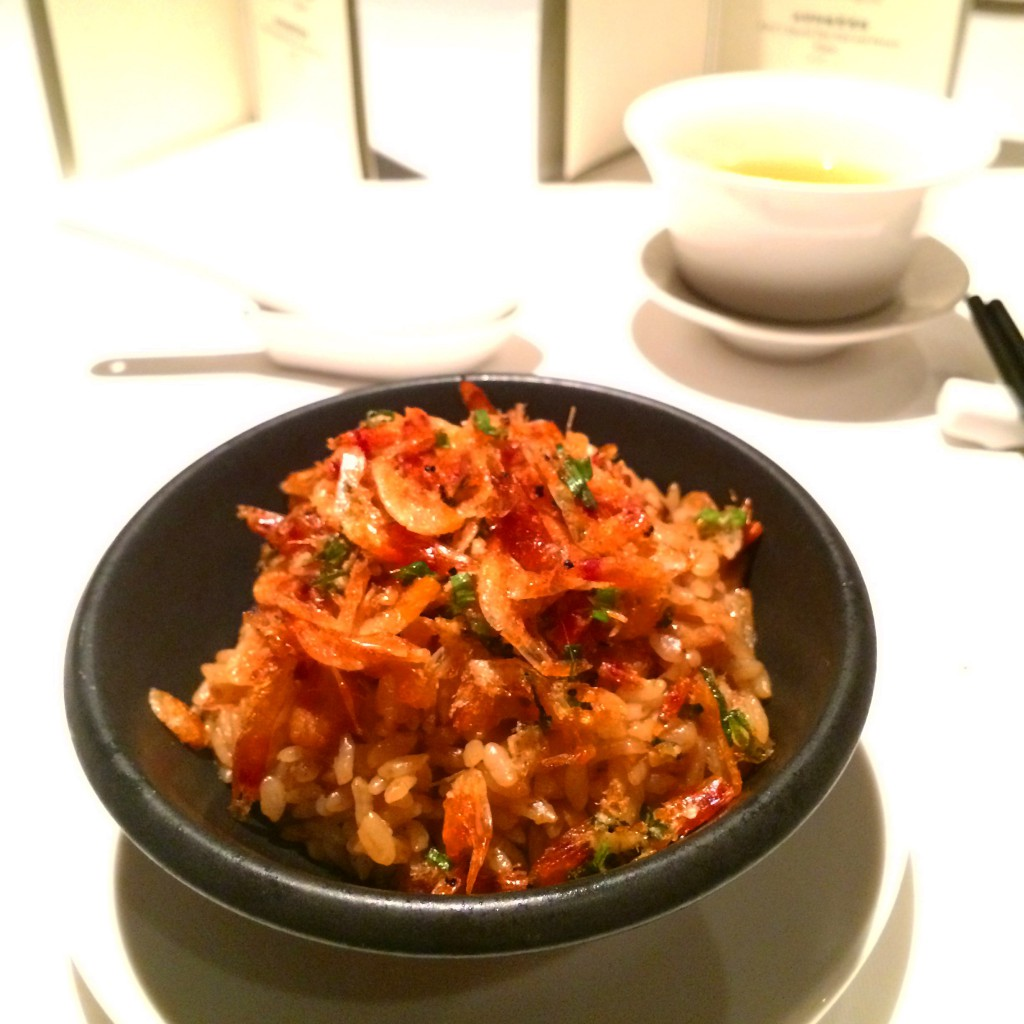 Fried rice with dried shrimp at The Lalu, Sun Moon Lake