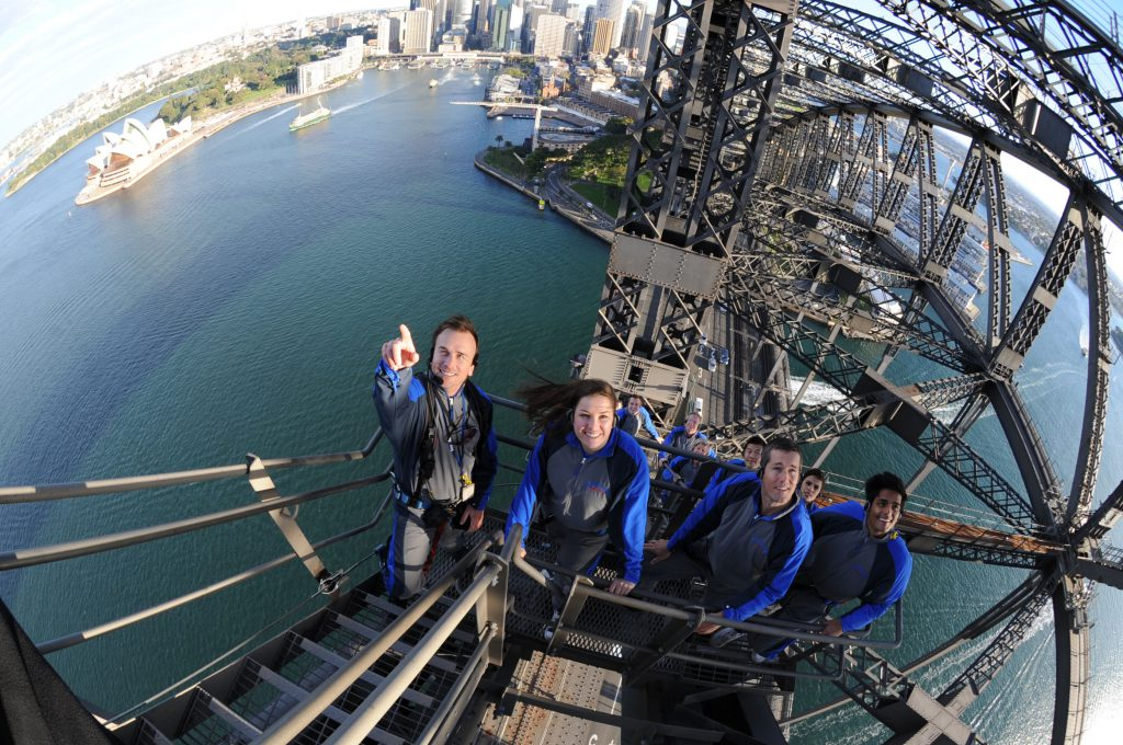 Aerial | Photo Credit: BridgeClimb Sydney