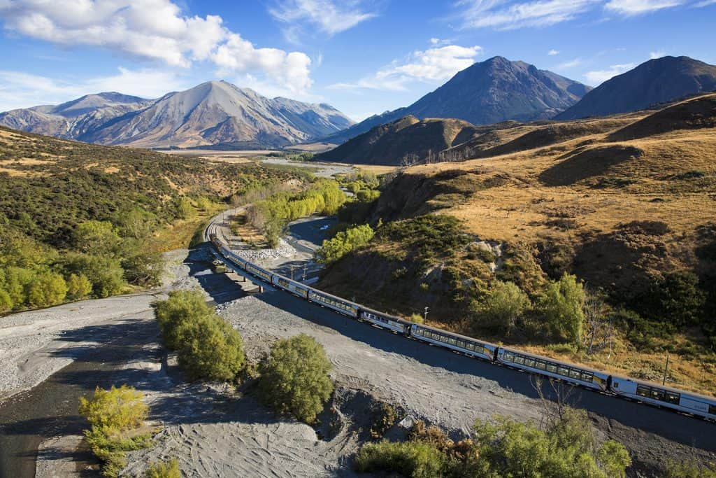 TranzAlpine Train | Photo Credit: Canterbury Tourism