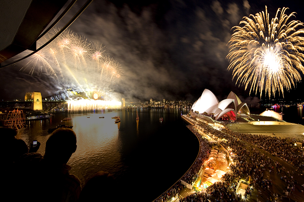 Opera House on New Year's Eve | Photo Credit: Destination New South Wales