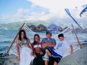 The Swain kids in Tahiti