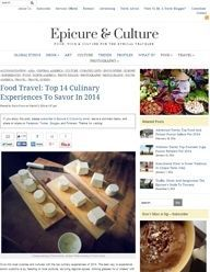 Top 14 Culinary Experiences To Savor in 2014