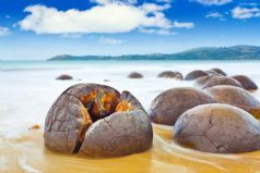 Moeraki Boulders and Blue Penguins