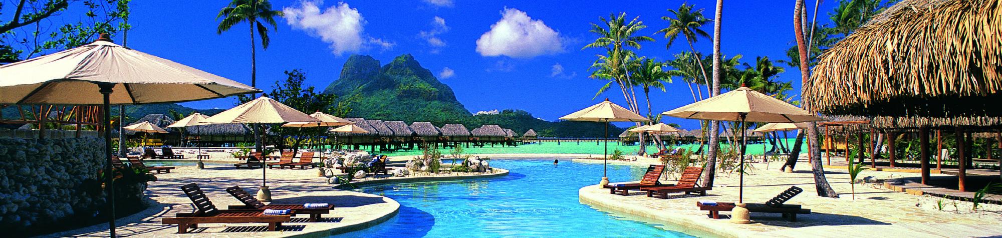 Bora bora pearl beach resort  spa is a luxury beachfront hotel on the bora bora island