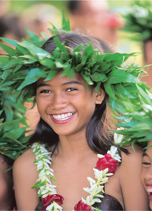 South pacific island girls